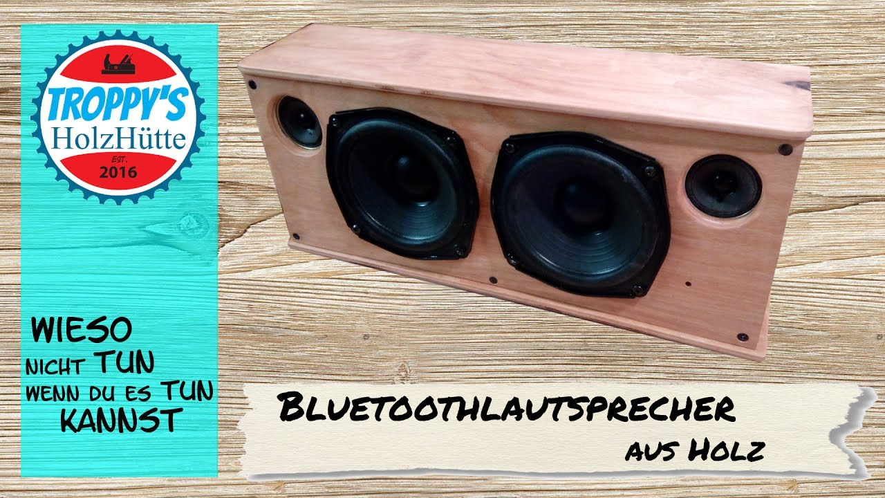 bluetooth lautsprecher aus holz f r die werkstatt hnlich let 39 s bastel youtube. Black Bedroom Furniture Sets. Home Design Ideas