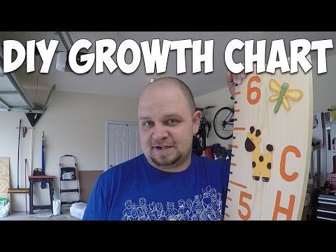 Finishing My DIY Growth Chart Ruler For My God Daughter