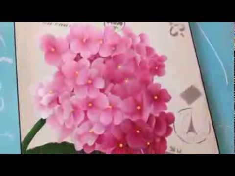 Como pintar hortensias herminia devoto con mabel blanco - Cuadros abstractos paso a paso ...