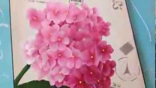 Repeat youtube video Como pintar hortensias . Herminia Devoto con Mabel Blanco
