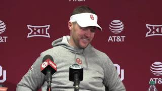 OU Football: Lincoln Riley on win over OSU