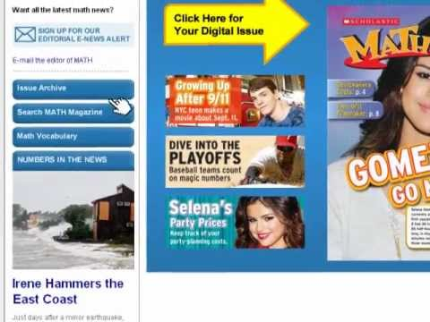 Math magazines for kids—Scholastic MATH magazine online ...