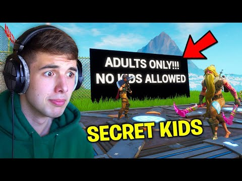 I Found This ADULTS ONLY Fortnite Server so I snuck kids in