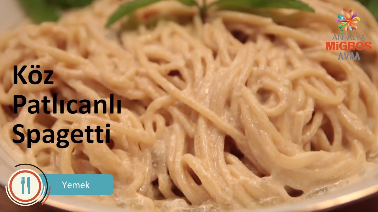 Patlıcanlı Spagetti Makarna