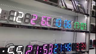 Lİ&TAİ 3D LED Duvar Saati Modern Tasarım Dijital Masa Saati