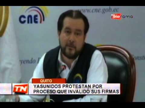 Yasunidos protestan por proceso que invalidó sus firmas