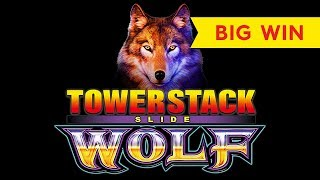 Tower Stack Slide Wolf Slot - BIG WIN BONUS!