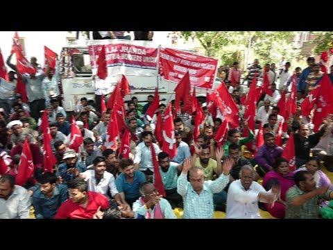 CITU protest against eviction of vendors