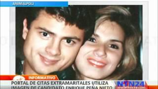 Imagen del candidato Enrique Peña Nieto es utilizada por un portal de citas extramaritales