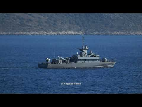 Hellenic Navy Fast Missile Patrol Boat P69 HS Krystallidis deployment in Kastellorizo island.