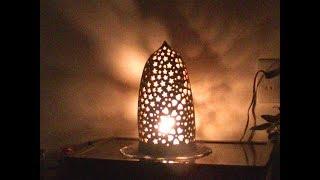 (素人陶芸)手びねり(紐づくり)でランプシェードを作ってみました