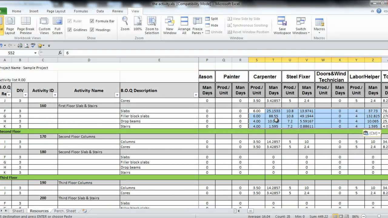 73 prepare project resources in excel part 3 youtube 73 prepare project resources in excel part 3 planning engineer alramifo Gallery