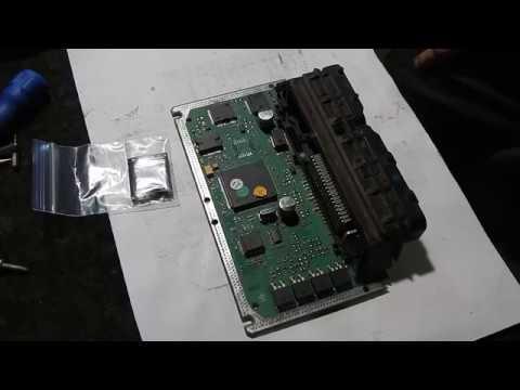 Ремонт ЭБУ BOSCH M7.9.7+ не работает 4-я форсунка. Замена драйвера.