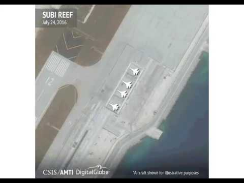 China prepares Spratly Islands in South China Sea for military aircrafts