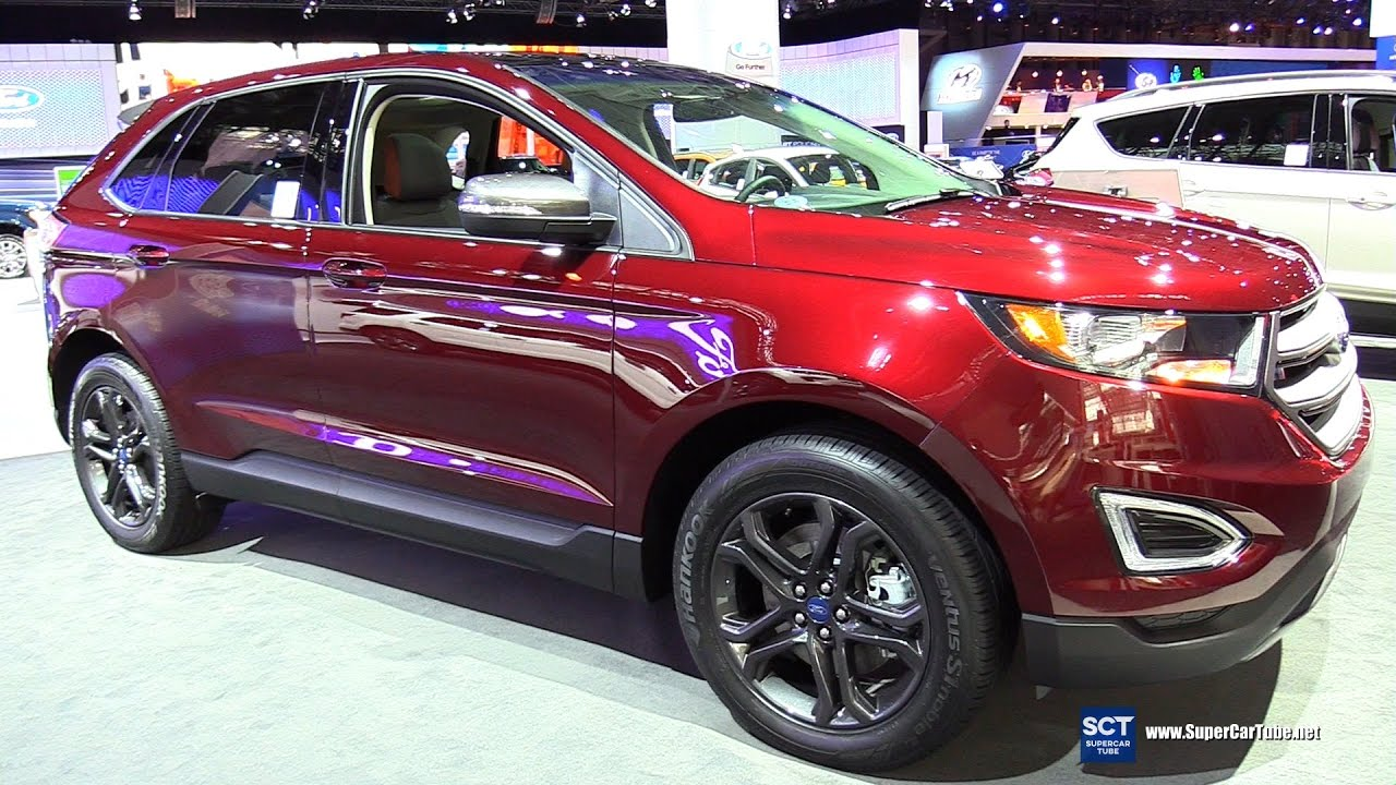 2018 Ford Edge Sel Sport Exterior And Interior Walkaround 2017 New York Auto Show
