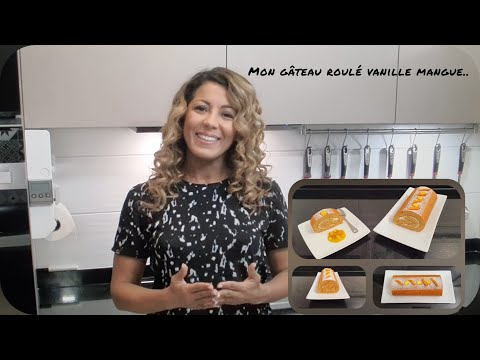 comment-faire-un-gâteau-roulé-vanille-mangue?-biscuit-très-moelleux-#gateauroule-#mangue