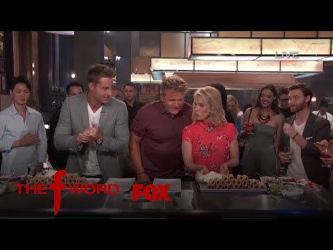 Justin Hartley & Cheryl Hines Compete In A Cannoli Filling Contest | Season 1 Ep. 7 | THE F WORD