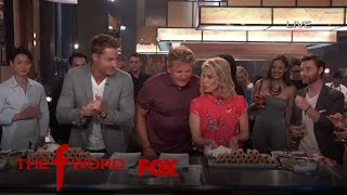 Justin Hartley & Cheryl Hines Compete In A Cannoli Filling Contest   Season 1 Ep. 7   THE F WORD