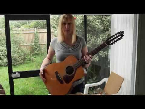 Setting up a Yamaha FG-260 12 string acoustic guitar - Susie torques