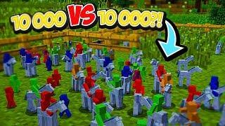chyst se největš bitva v minecraftu 10 000 vs 10 000 lid kdo z ns vyhraje tento mega boj