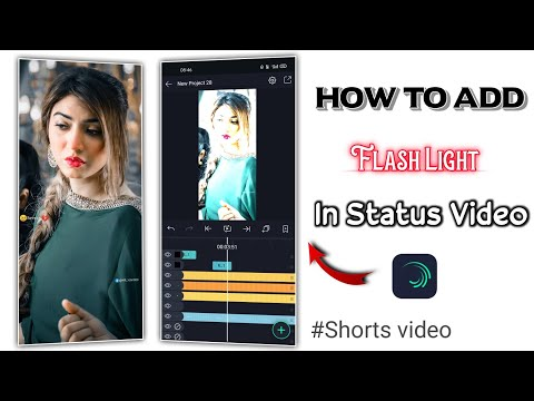 How To Add Flash Light Effect In Status Video #Shorts Alight Motion #Editing
