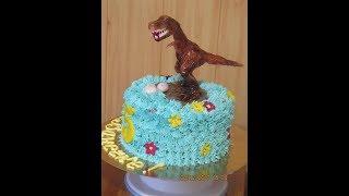 Торт на День Рождения с Динозавром
