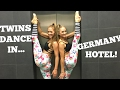 Acro Gymnastics around our hotel in Germany! | The Rybka Twins