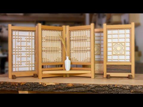 Making Japanese Shoji Screens / Tabletop Decorative Panels