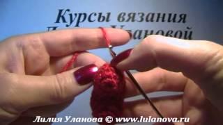 Брелок Сердечко - вязание крючком