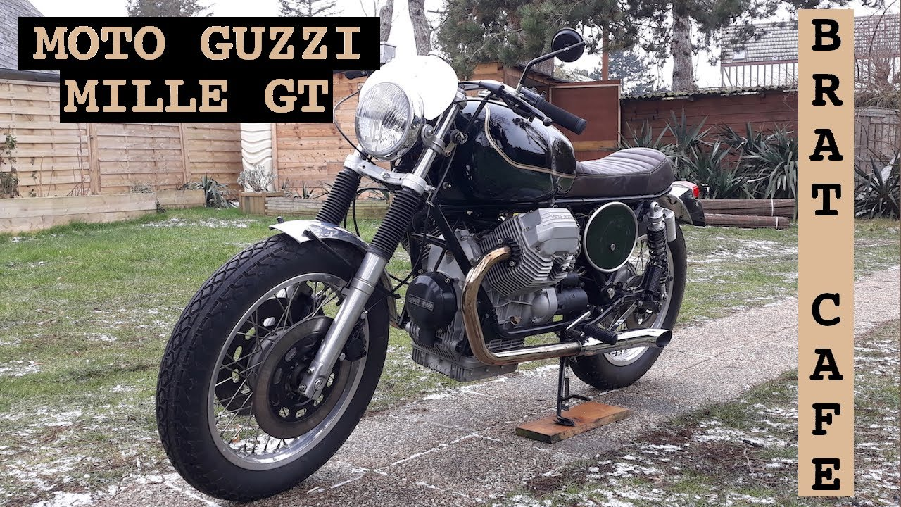moto guzzi mille gt brat cafe youtube. Black Bedroom Furniture Sets. Home Design Ideas