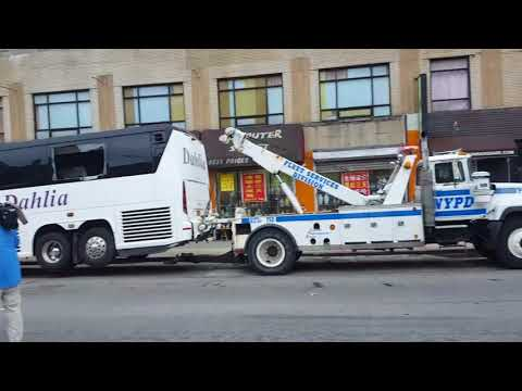 FATAL NYC Flushing Bus crash AFTERMATH. (RAW VIDEO)