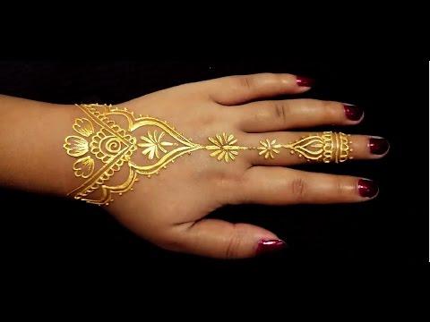 Golden Henna Tattoo Artsycreativevibe