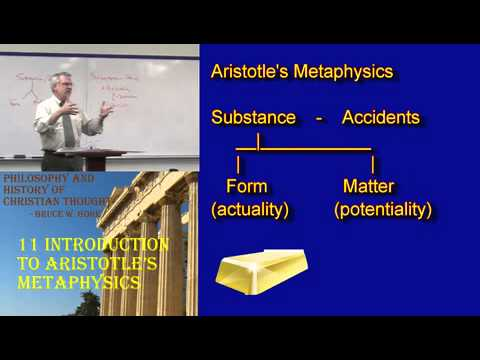 11. Aristotle's Metaphysics