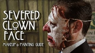 severed clown face prosthetic tutorial makeup artist point of view camera