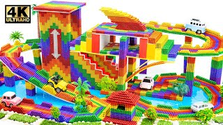 DIY - Build Mega Villa House Has Multistory Shark Car Parking Garage and Fish Tank (Satisfying)
