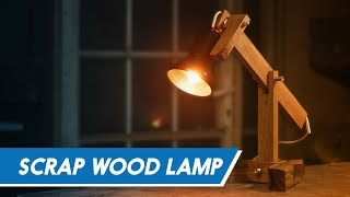 MazingDIY: Scrap Wood Desk Lamp