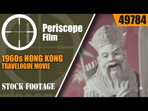 "1960s HONG KONG TRAVELOGUE MOVIE  ""DESTINATION HONG KONG""  49784"