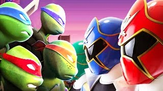 Teenage Mutant Ninja Turtles Tmnt Vs Power Rangers Duel Fight Ultimate Hero Clash 2