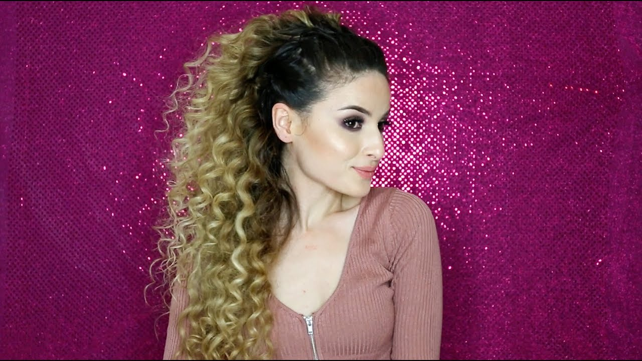 Simple 2 Minute Curly Hairstyle Youtube