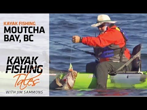 Kayak Fishing Moutcha Bay, British Columbia for Lingcod