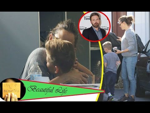 Ben Affleck collapses when Jennifer Garner chats with a mystery man in a hair salon with son Samuel