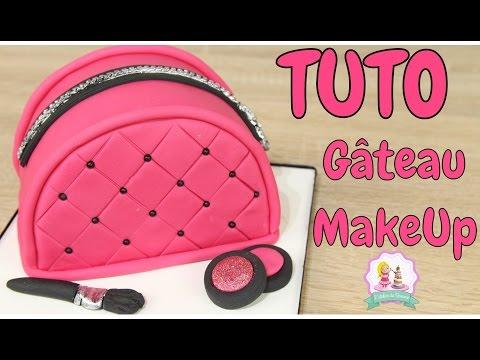 ♡•-gÂteau-sac-makeup-pate-a-sucre---cake-design---makeup-bag-cake-•♡