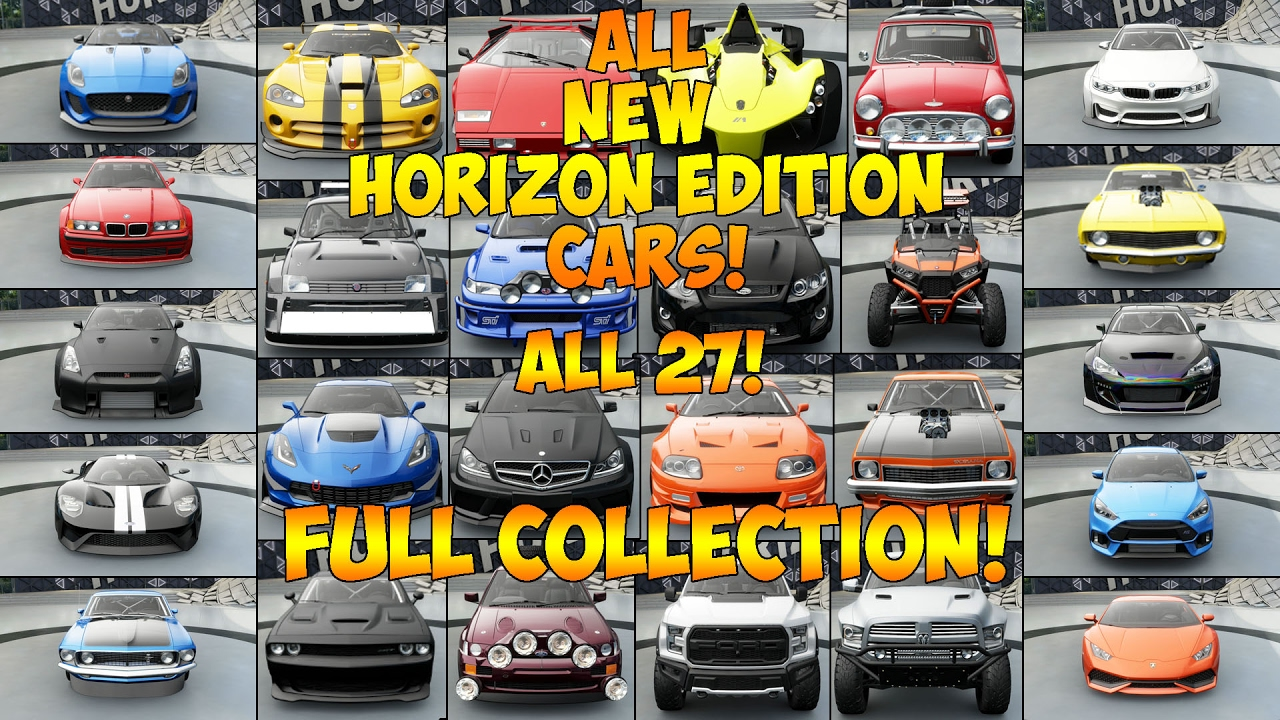 Horizon  Horizon Edition Cars