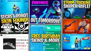 "*NEW* Fortnite: ""Mecha"" SKIN/EVENT LEAKS! Storm Scout Sniper, CATTUS HILL POI, FREE Birthday Rewards"