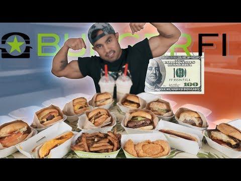 $100 Worth of BurgerFi VS Food Ninja | ENTIRE MENU | 11,000+ CALORIES
