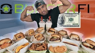 $100 Worth of BurgerFi VS Food Ninja | ENTIRE MENU | 11,000+ CALORIES