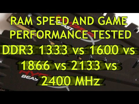 RAM speed and game performance - DDR3 2400 vs 2133 vs 1866 v
