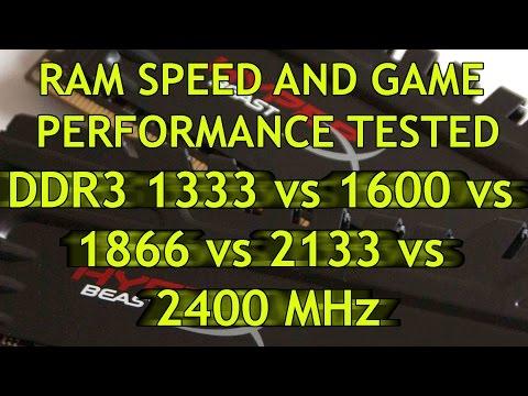 RAM speed and game performance - DDR3 2400 vs 2133 vs 1866 vs 1600 vs 1333  MHz