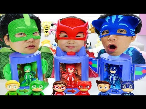 Boram Plays with PJ Masks Transforming Toys