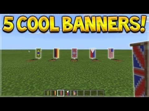 5 COOL BANNER DESIGNS! Minecraft Pocket Edition - 1.2 BETA ...  5 COOL BANNER D...
